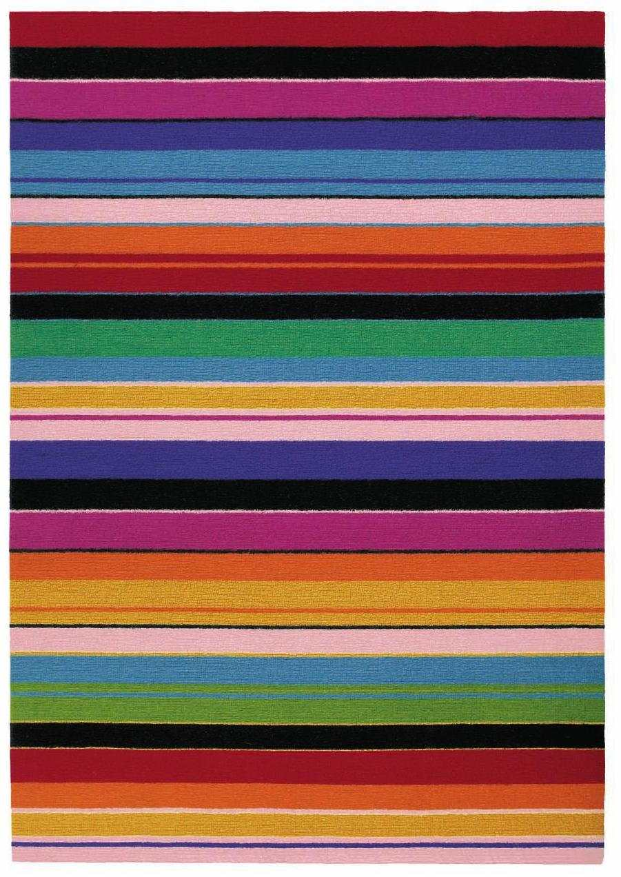 Colorful Modern Striped Wool Rug